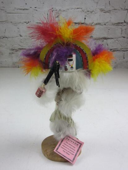"""Signed Rainbow Navajo Kachina Doll #401462 10"""""""