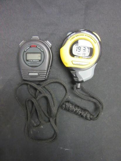 Pair of Water-Resistant Stop Watches