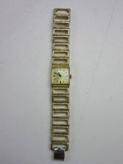 "PEDRE 17 Jewels Gold Toned Wrist Watch 7.25"" Needs Battery"
