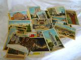 large lot of colorized antique post cards 16 unused 4 used with stamps