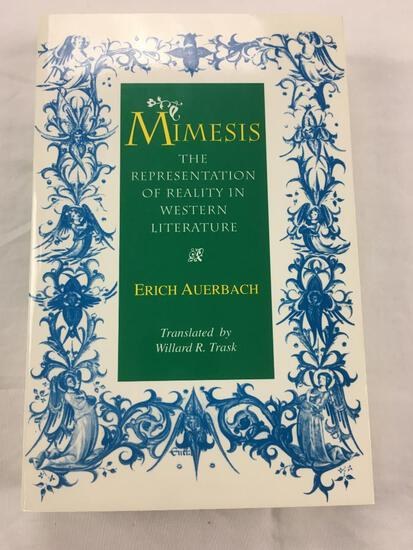 """1953 """"Mimesis: The Representation of Reality in Western Literature"""" by Erich Auerbach PAPERBACK"""
