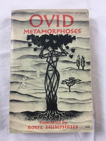 "1955 ""Ovid Metamorphoses"" Translated by Rolfe Humphries PAPERBACK"