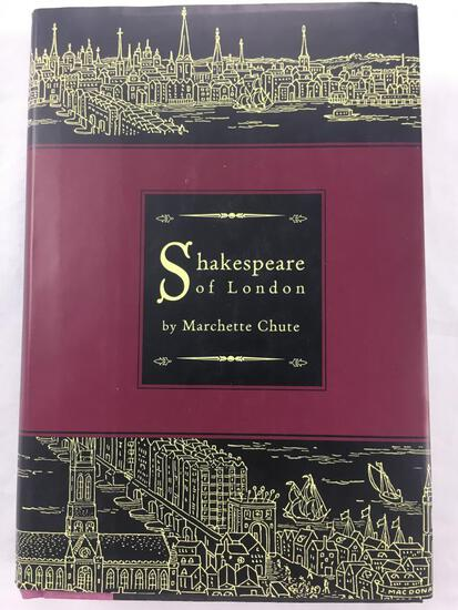 """1949 """"Shakespeare of London"""" by Marchette Chute HARDCOVER"""