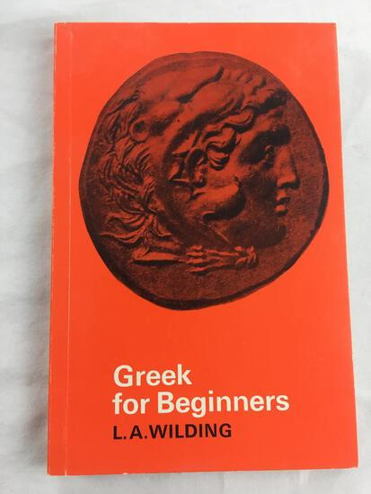 """1977 """"Greek for Beginners"""" by L.A. Wilding. PAPERBACK"""