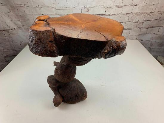 Custom Made Wood Plant Stand