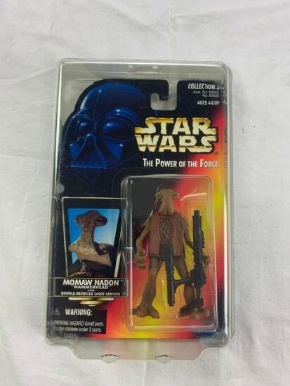STAR WARS 1996 The Power of the Force MOMAW NADON HAMMERHEAD POTF Red Card NEW with case