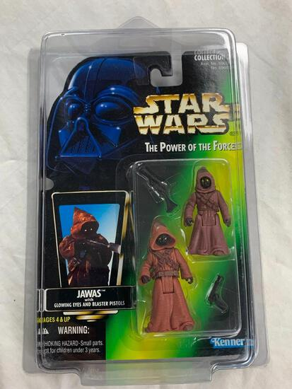 STAR WARS 1996 The Power Of The Force JAWAS Action Figure NEW with case
