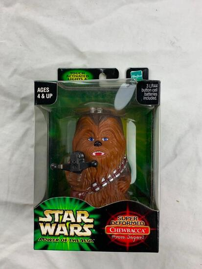 2001 Star Wars Power of the Jedi Super Deformed From Japan CHEWBACCA Figure NEW Lights and Sound