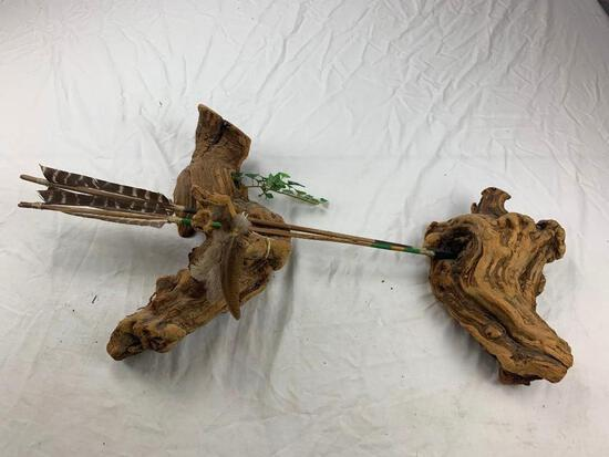 Native American Wall Display Drift Wood and 2 Arrows