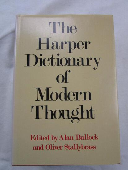 "1977 ""The Harper Dictionary of Modern Thought"" Edited by Alan Bullock & Oliver Stallysbrass HARDBACK"