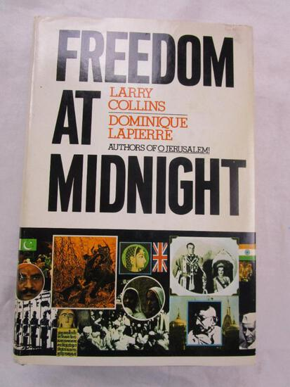 """1975 """"Freedom at Midnight"""" by Larry Collins and Dominique Lapierre HARDCOVER"""