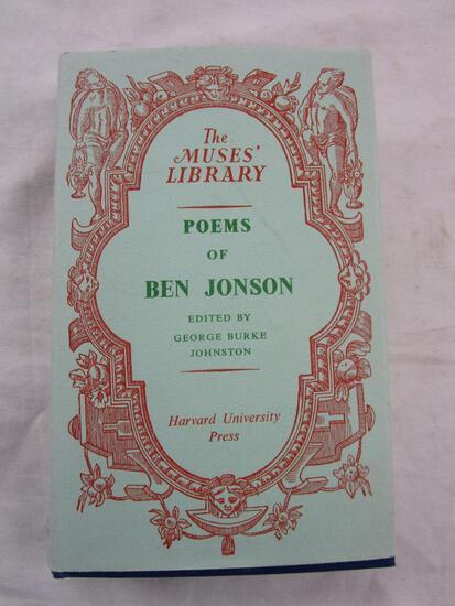 "1954 ""Poems of Ben Jonson"" Edited by George Burke Johnston HARDCOVER"