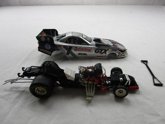 John Force Castrol GTX Elvis Presley Action Racing 1:24 Diecast 2002 Mustang Funny Car