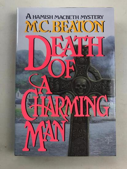 """1994 """"Death of A Charming Man"""" by M.C. Beaton HARDCOVER"""