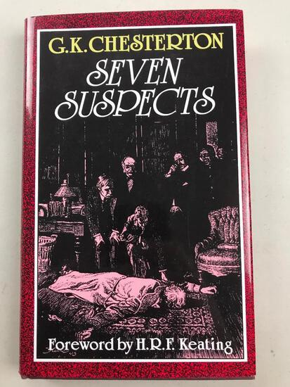 """1990 """"Seven Suspects"""" by G.K. Chesterton HARDCOVER"""
