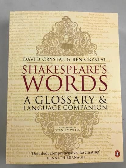 """2002 """"Shakespeare's Words"""" by David Crystal & Ben Crystal PAPERBACK"""
