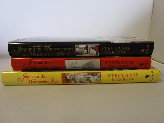 Lot of 3 hardcover Jane Austen Mystery Novels by Stephanie Barron