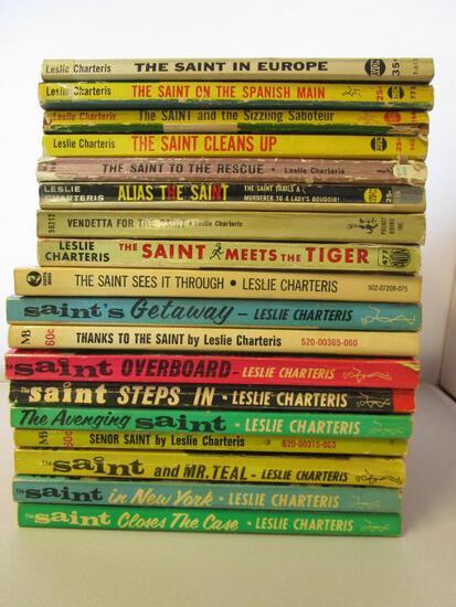 Lot of 18 vintage paperback Simon Templar, The Saint novels by Leslie Charteris