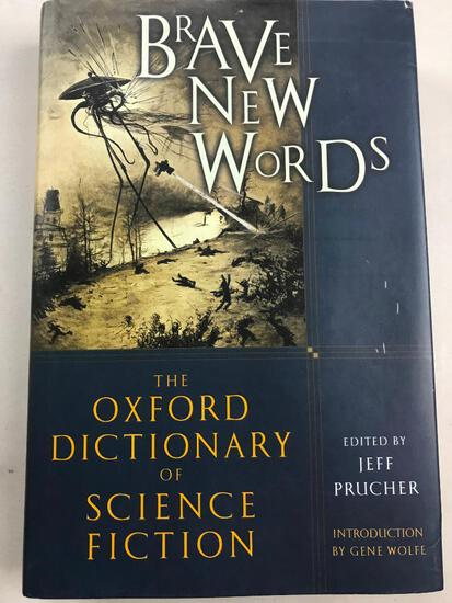 """2007 """"Brave New Worlds: The Oxford Dictionary of Science Fiction"""" Edited by Jeff Prucher HARDCOVER"""