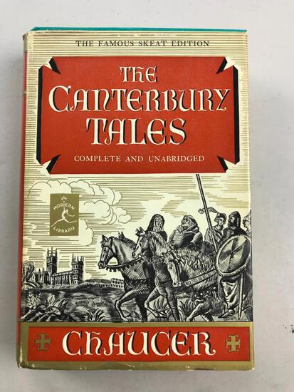 """1957 """"The Canterbury Tales"""" by Chaucer HARDCOVER"""