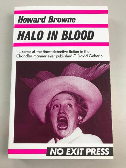"""1988 """"Halo in Blood"""" by Howard Browne PAPERBACK"""