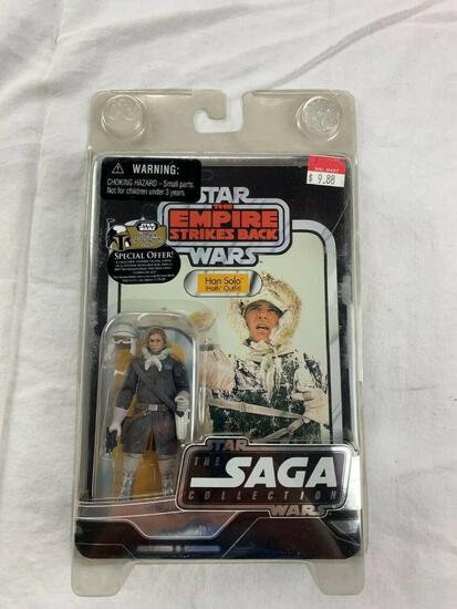 Star Wars Vintage Saga Collection Empire Strikes Back HAN SOLO Action Figure NEW with case