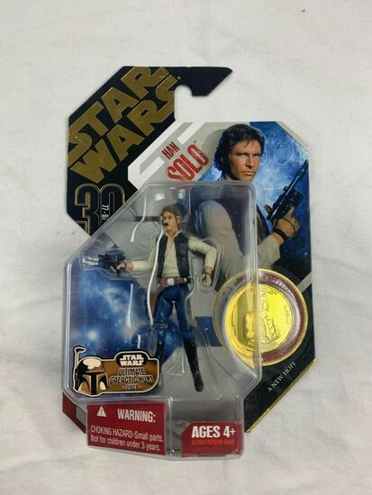 STAR WARS 30th anniversary Collection Saga Legends HAN SOLO Action Figure with Gold Coin NEW