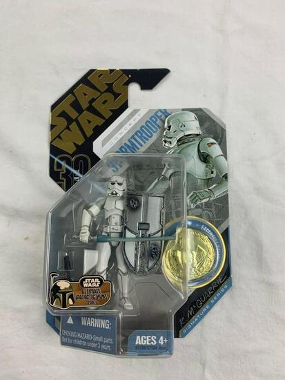 STAR WARS 30th anniversary Collection Saga Legends STORMTROOPER Concept Figure with Gold Coin NEW