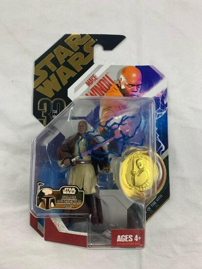 STAR WARS 30th anniversary Collection Saga Legends MACE WINDU Action Figure with Gold Coin NEW