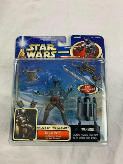 2002 Star Wars Attack of The Clones JANGO FETT With Jetpack and Armor Action Figure NEW