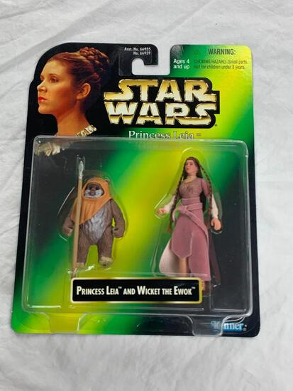 Star Wars Princess Leia Collection Wicket The Ewok and Leia Action Figures NEW 1997