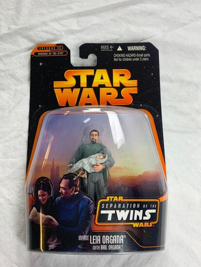 Star Wars Separation Of The Twins Bail Organa and Infant Leia Organa Action Figure NEW 2005