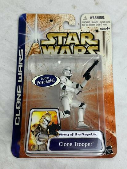 Star Wars Clone Wars CLONE TROOPER Army Of The Republic Action Figure NEW 2003
