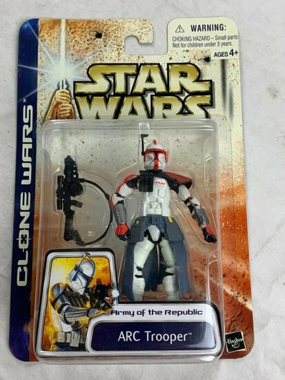 Star Wars Clone Wars ARC TROOPER Action Figure RED VARIANT Army Of The Republic NEW 2003