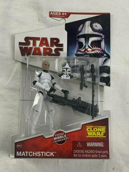 Star Wars LEGACY COLLECTION 2009 MATCHSTICK Action Figure CW34 CLONE WARS NEW