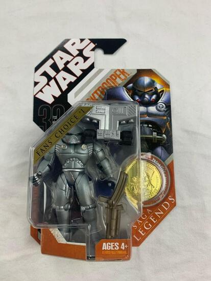 STAR WARS 30th anniversary Collection Saga Legends DARKTROOPER Action Figure with Gold Coin NEW