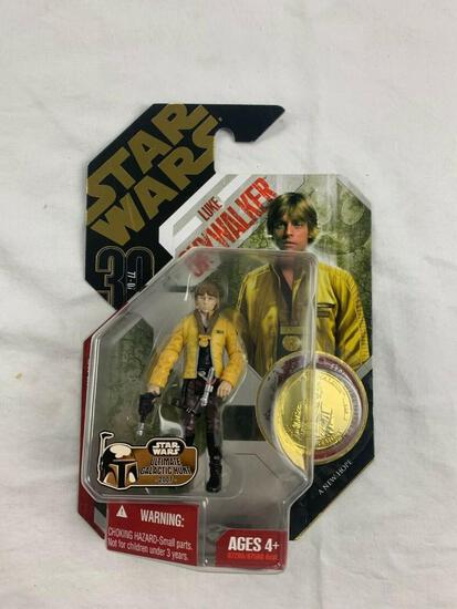 STAR WARS 30th anniversary Collection Saga Legends LUKE SKYWALKER Action Figure with Gold Coin NEW