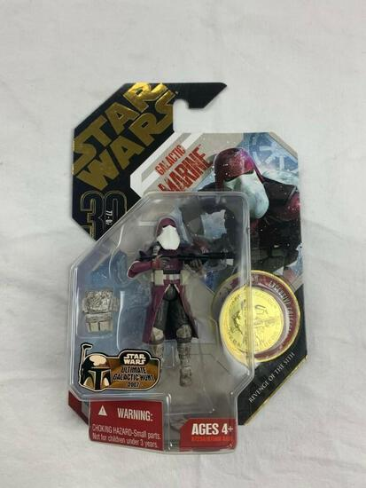 STAR WARS 30th anniversary Collection Saga Legends GALACTIC MARINE Action Figure with Gold Coin NEW