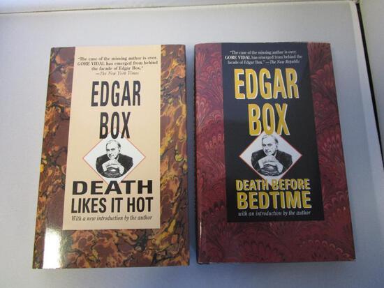 Lot of 2 hardcover Edgar Box murder mystery novels