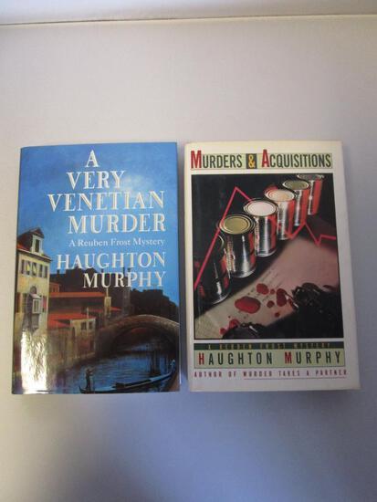 Lot of 2 hardcover Haughton Murphy murder mystery novels