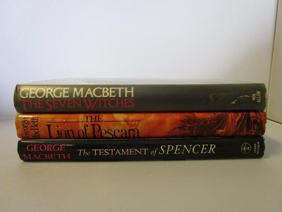 Lot of 3 hardcover George Macbeth novels