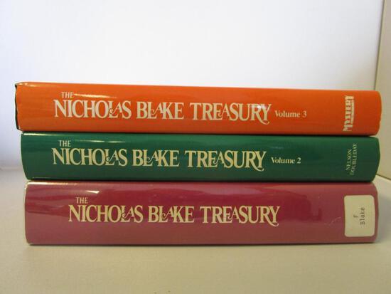 Lot of 3 hardcover The Nicholas Blake Treasury murder mystery books