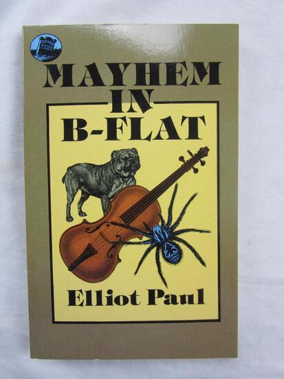 """1988 """"Mayhem in B-Flat"""" by Elliot Paul PAPERBACK"""