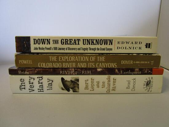 Lot of 4 Grand Canyon and Colorado River exploration paperback books