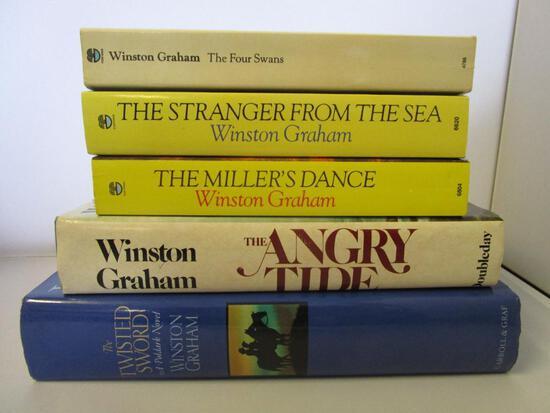 Lot of 5 Winston Graham Poldark novels