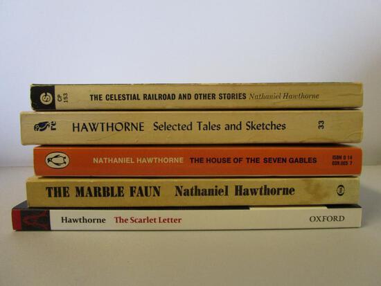 Lot of 5 paperback Nathaniel Hawthorne novels