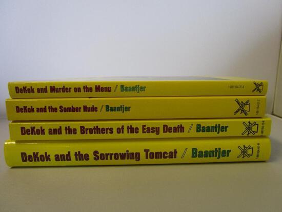 4 paperback Albert Baantjer detective fiction novels