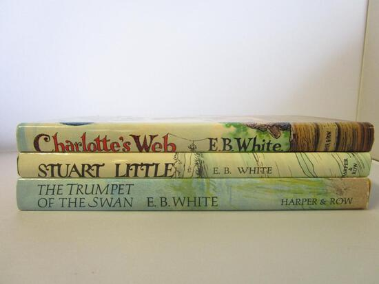 Lot of 3 Hardcover E.B. White Children Young-Adult Novels