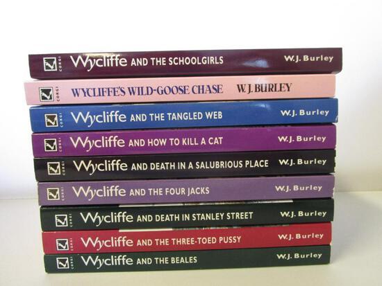 Lot of 9 paperback W.J. Burley Wycliffe Murder Mystery Novels