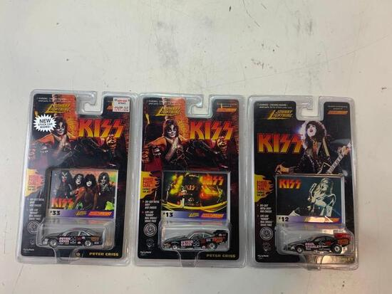 Lot of 3 KISS Johnny lightning Diecast cars NEW Peter Criss and Paul Stanley